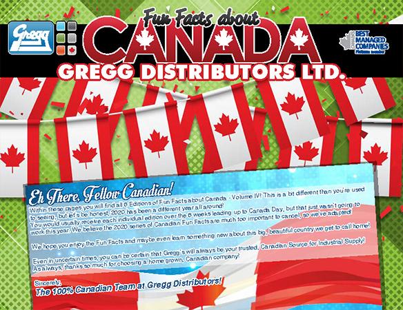 Gregg's Canada Fun Facts Catalogue Cover