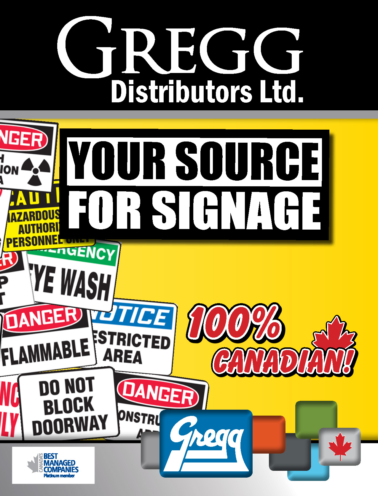 Gregg's Your Source for Signage Catalogue Cover